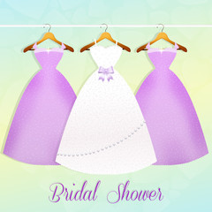 wedding dress and bridesmaids dresses