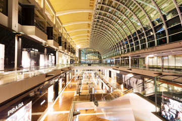 SINGAPORE - July 1: The Shoppes at Marina Bay Sands interior on