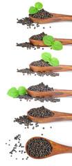 pepper in wooden spoon