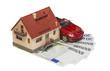 Leinwanddruck Bild - Покупка дома и машины