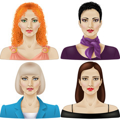 Women in different styles
