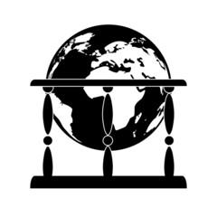 Retro globe icon
