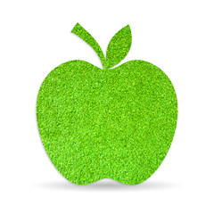 Green apple, grass textured