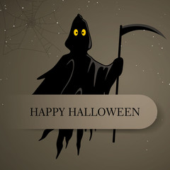 Vector Illustration of a Scary Halloween Design