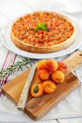 abricots et tarte aux abricots