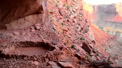 Anasazi Indian Ruins At False Kiva, Canyonlands