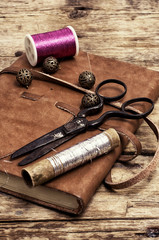 range of garment accessories in vintage style
