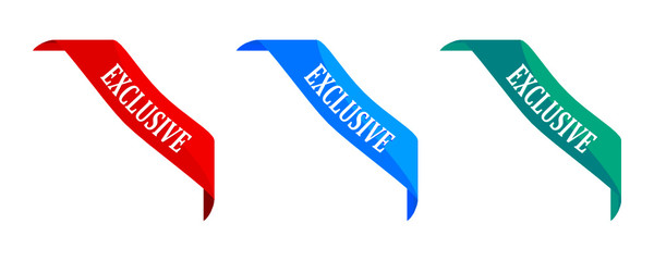 Color triangles with the word exclusive vector