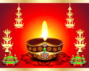 Traditional Diwali Background