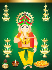 diwali Background  with ganesha g