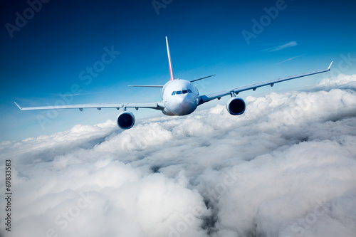 canvas print picture Passenger Airliner in the sky