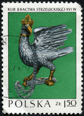 stamp printed in POLAND shows the bird of fraternity