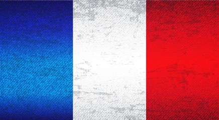 France Flag Art Background