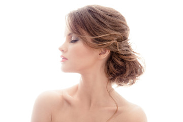 Beautiful Blond Woman. Hairstyle.