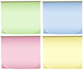 Four pads of colourful papers