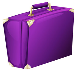 A purple case bag