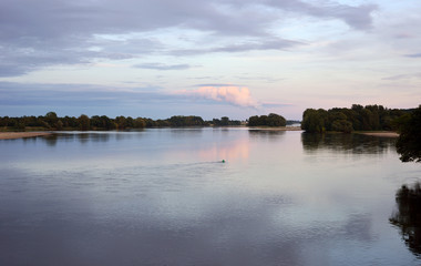 Loire River with Red Cloud