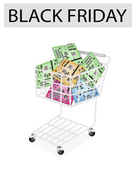 Computer Motherboard in Black Friday Shopping Cart