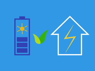 Solar battery as eco source of energy