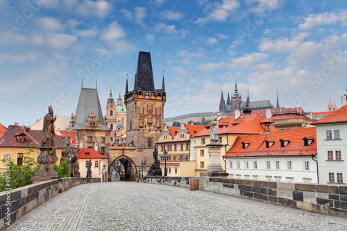 canvas print picture Prague View from Charles Bridge
