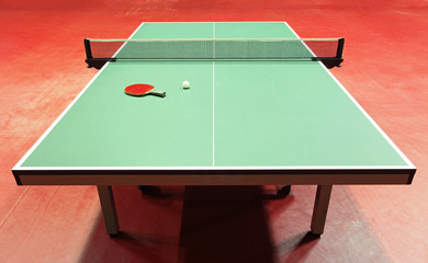 quipment for table tennis - racket, ball, table
