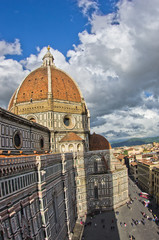 Dome of Santa Maria cathedral in Florence, Tuscany