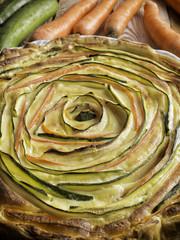 Torta salata zucchine e carote