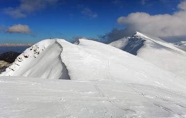 Slovakia mountain at winter, Low Tatras