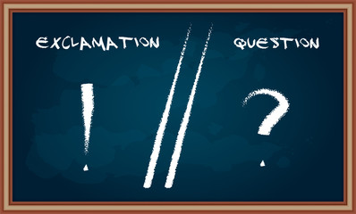 Hand drawing Question and Exclamation sign