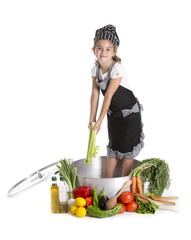 cooking child