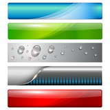 Banners, headers vector collection.