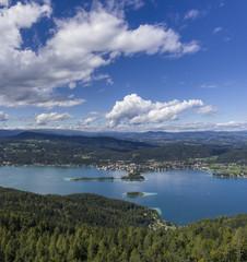 Panoramic View of Lake Worthersee