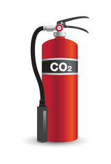 Fire Extinguisher co2 Vector