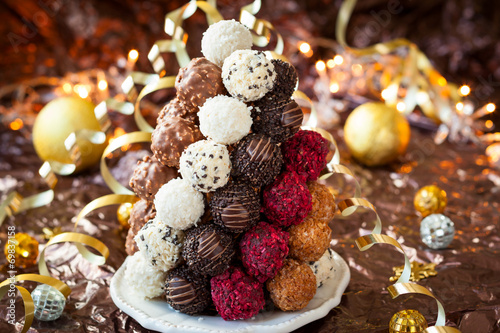 canvas print picture Chocolate Truffle