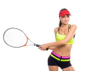 Budding tennis player. Victory.