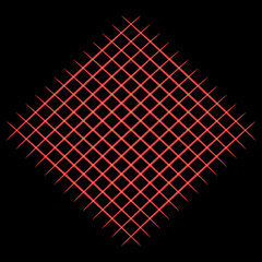 Red grid on black background. Raster