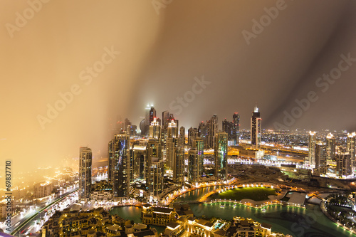canvas print picture Dubai im Sandsturm