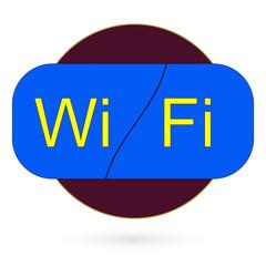 WI-FI icon on white background. raster