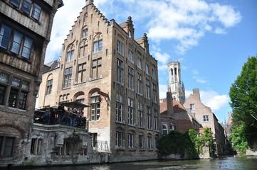 Vista general de Brujas, Bélgica