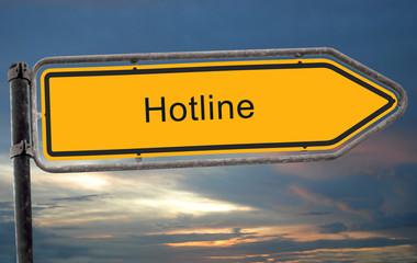 Strassenschild 25 - Hotline