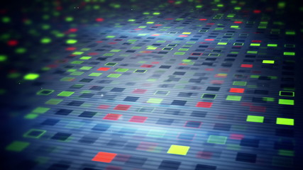 beaming squares loopable techno background