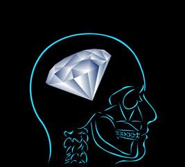 myśl i diament