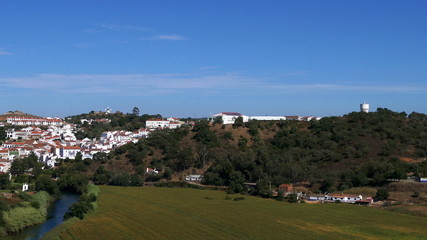 Panoramic View of Small Town,  Portugal