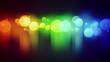 colorful circle lights with reflections loop background