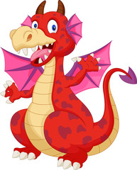 Red cartoon dragon