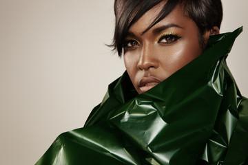 closeup portrait of a black woman