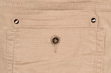 Brown back pocket for background