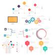 Set of Infographic elements for business slide presentations