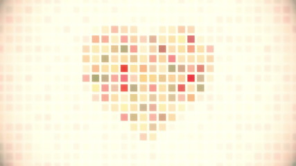 pixel heart seamless loop animation
