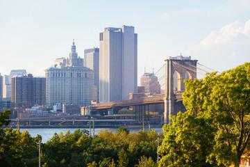 Brooklyn Bridge in New York before Sunset